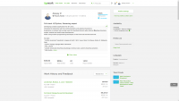 Full stack developer at Upwork